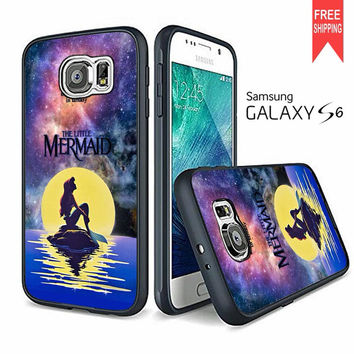 Ariel The Little Mermaid In Galaxy Samsung Galaxy S6 Case