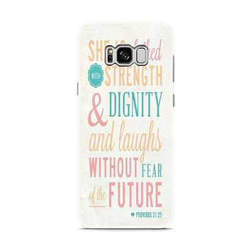Bible Verse (she is clothed colorful) Samsung Galaxy S8 | Galaxy S8 Plus Case
