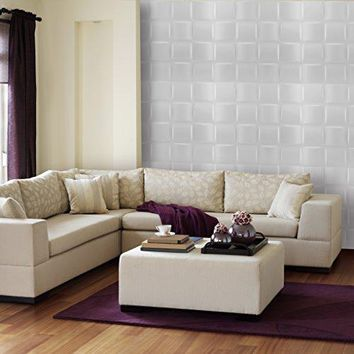 Ben&Jonah Collection Donny Osmond Basket Weave 19.6x19.6 Self Adhesive Wall Tile - 10 Tiles/26.70 sq Ft.