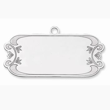 Sterling Silver Blank Christmas Gift Tag