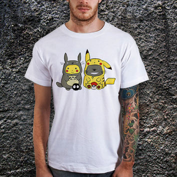 Totoro and Pikachu Men T-Shirt (various Color Available)