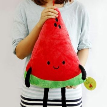 "Watermelon Plush 16"" cotton food figure toy doll pillow kawaii cute"