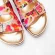 Abstract Print Sandals