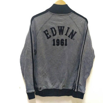 Edwin 1961s 503 Premium Japan sweater jacket Embroidery spellout big logo vintage Denim wear