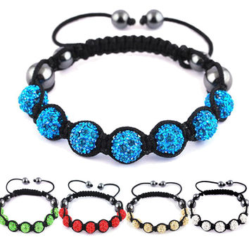 Shamballa Jewelry Bracelets For Women  Bracelets Micro Pave Disco Ball 10mm Bead Shamballa Bracelet