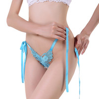 Sexy Women Underwear Ladies Strappy Butterfly Lace Mesh G-String V-String String Thongs Female Panties Black Free Shipping NY205