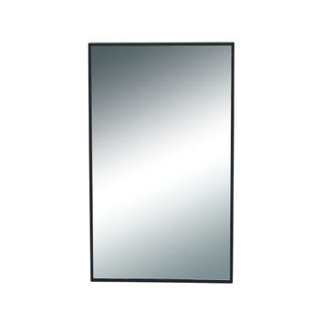 Stylish Wood Rectangle Wall Mirror
