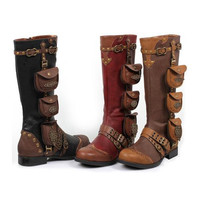 1 Inch Womens Steam Punk Boot