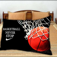 """Nike Basketball Never Stop - 20 """" x 30 """" inch,Pillow Case and Pillow Cover."""