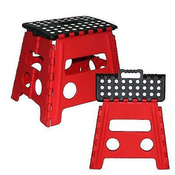 Foldable Step Stool Ladder Kitchen Home Garage Folding Capacity 250 lbs Pounds