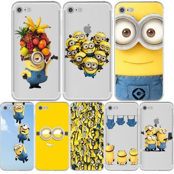 Minions Despicable Me Minion Funny Phone Cases for iphone 8 7 6S 6 PLUS X 10 5S 5 SE Silicone Transparent Capa Fundas Capinha
