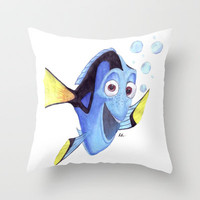 Dory Throw Pillow by Philly93 | Society6