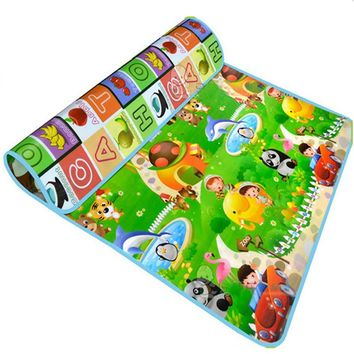Double Fruit Letter Baby Play Mats Crawling Pad Kids Game Carpet Toys For Children Developing Rug Mat for Children Rug
