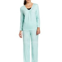 White Orchid Women's Alpine Forest Pajama Set