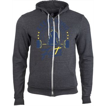 Hoodie with exercising faith logo