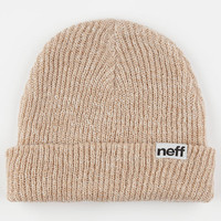 Neff Daily Heather Fold Beanie Tan/White One Size For Men 24590444901