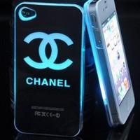 Amazon.com: Smiling Deals Flash Light Case Cover for Apple iPhone 5 LED LCD Color Change - Black - Chanel + a Screen Protector and a Stylus As Gifts: Electronics