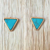 Stone Fox Turquoise Earrings