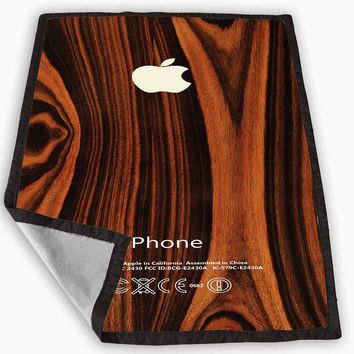 wood iphone case wooden iphone case Blanket for Kids Blanket, Fleece Blanket Cute and Awesome Blanket for your bedding, Blanket fleece *