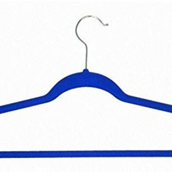 Ben&Jonah Collection Velvet Anti-Slip Hangers - Blue