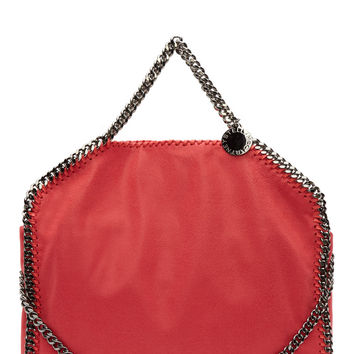 Stella Mccartney Coral Shaggy Deer Foldover Fallabella Bag