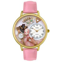 Whimsical Watches Women's G0910014 Jewelry Lover Pink Leather Watch