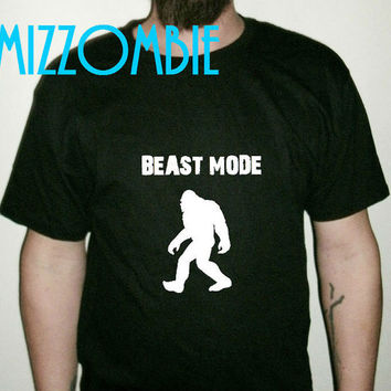 BEAST MODE bigfoot Regular men women unisex workout gym shirt t shirt