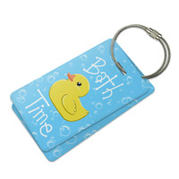 Bath Time Rubber Duck Luggage Tag Set
