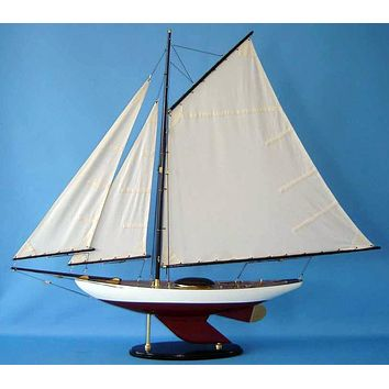 Wooden Bermuda Sloop Decoration 40""