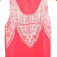 Tropicali Crochet Lace Woven Tank Top
