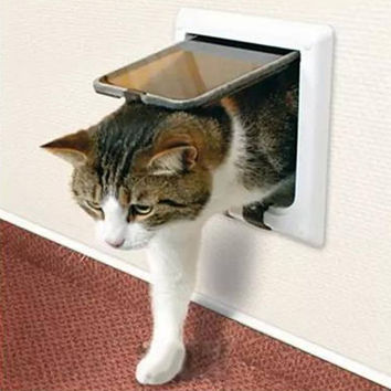Lockable Cat Flap Door suitable for Any Wall or Door