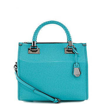 Gianni Bini Braided Handle Convertible Satchel