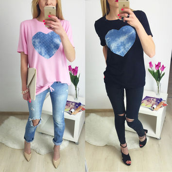 Summer Women's Fashion Pattern Print Tops T-shirts [6343461377]