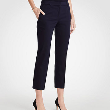 The Ankle Pant In Cotton Sateen - Curvy Fit   Ann Taylor