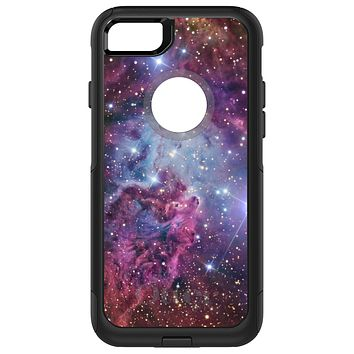 DistinctInk™ OtterBox Commuter Series Case for Apple iPhone or Samsung Galaxy - Pink Purple Blue Fox Fur Nebula