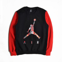 Basketball sweater Men 's head sports long - sleeved autumn and winter coat round neck 23 Jersey trend of NBA jerseys