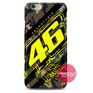 Valentino Rossi VR46 Forty Six Camo iPhone Case 3, 4, 5, 6 Cover