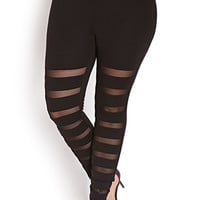 Show Off Shadow-Stripe Leggings