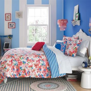 Teen Vogue® Rosie Posie Reversible Comforter Set in Red/Blue
