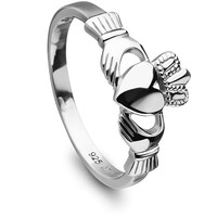 Claddagh Ring ANU3017 Ladies Sterling Silver Made in Ireland.