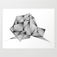 Structure (XYZ) Art Print by Rui Ribeiro