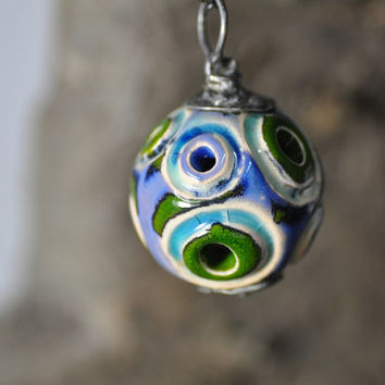 Ceramic sphere,  Necklace sphere, necklace, handmade necklace, zolanna, gift for her, ceramic necklace, method tiffany, ready to ship,