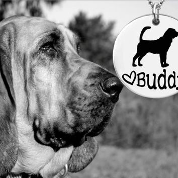 Bloodhound Dog Personalized Jewelry