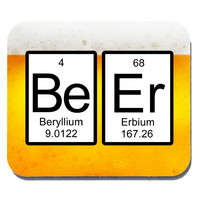 Beer Periodic Table of Elements Mouse Pad