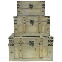 Faux Leather Trunk Box Set | Shop Hobby Lobby