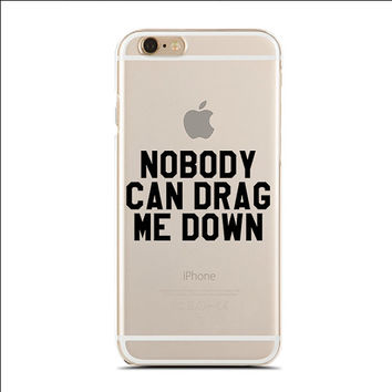 Nobody Can Drag Me Down - Slim & Transparent case for iPhone - by HeartOnMyFingers - SLIMCASE-192