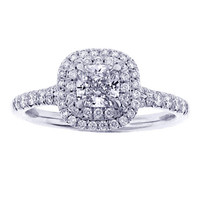 Tiffany & Co. Diamond Platinum Soleste Ring .54 Carats