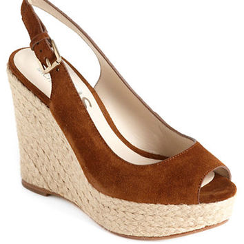 Kors Michael Kors Keelyn Suede Platform Wedge Sandals