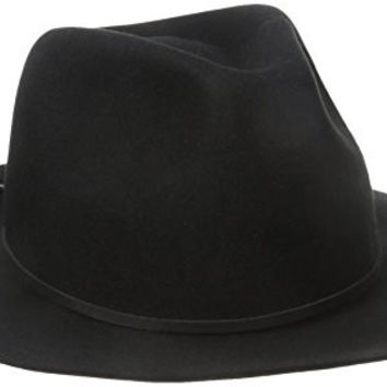 Brixton Men's Wesley Fedora Hat, Black, Large