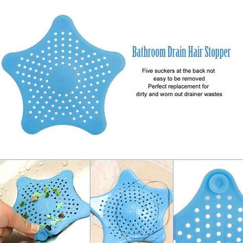 Star Shape Plastic Kitchen Mint Plan Bath Shower Drain Cover Waste Sink Strainer Hair Filter Catcher House Gadgets Basket